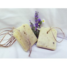 MILO S SIVKO IN KAMILICO na vrvici / LAVENDER CHAMOMILE SOAP on the rope